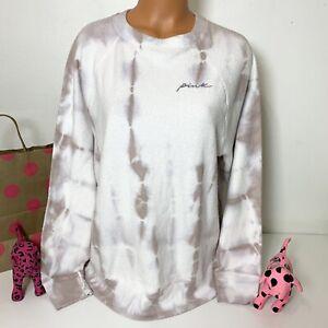 PINK Victoria's Secret Tie Dye Campus Sweatshirt Logo Size XS (Oversized)
