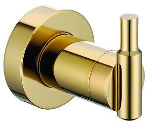 gold clour bathroom brass clothes hook robe hook Round