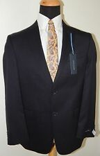 TOMMY HILFIGER NAVY PINSTRIPE A80453 100% WOOL TWO BUTTON MENS SUIT 44S 38W