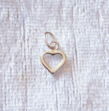 Sterling Silver Open Love Heart Charm Small 7mm 925