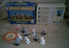 Warhammer dwarfs 1994 boxed partialy painted