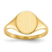 14k Yellow Gold Fancy Engravable Signet Ring (10mm x 8.1mm face)
