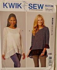 Kwik Sew Misses Top Blouse Sewing Pattern 4134 Size XS-XL UNCUT