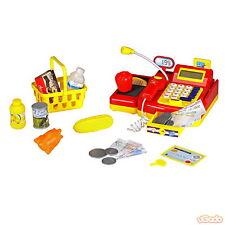Kinder Registrierkasse Spielzeugkasse Spielkasse mit Funktion Zubehör Kaufladen