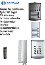 FARFISA 6 VIE A FILO Intercom Sistema Audio/KIT 1 xintercom 6 xhandsets 1x TASTIERA