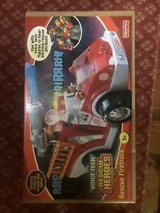 Fisher Price - Rescue Heroes - Rescue Fire Truck Voice Tech - 2000 vintage - NEW
