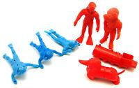 Vintage Unmarked Frogmen Divers Plastic Figures From Playset
