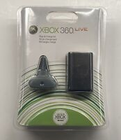 BRAND NEW Microsoft XBOX 360 Black Play & Charge Kit Factory Sealed Fast Ship