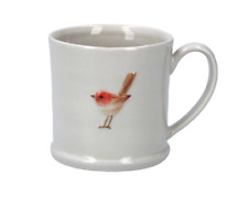 Gisela Graham Christmas Mug - Ceramic Mini Mug with Robin