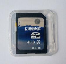 Kingston 4GB SD Class4 Secure Digital Memory Flash Card C4 SDC4 4G f/ Camera GPS
