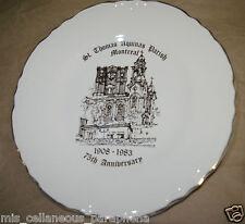"St Thomas Aquinas 75th Anniversary Collector Plate 1908-1983 - 9"" Creemore China"