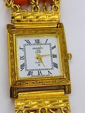 Kenneth Jay Lane Watch Gold Tone Band Faux Coral beads