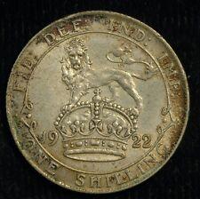 More details for shilling 1922 george v gvf .500 silver (t33)