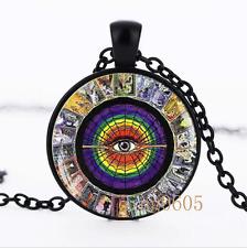 Tarot Card Alchemy photo Glass Dome black Chain Pendant Necklace wholesale