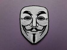 NOVELTY FANCY DRESS CARTOON SEW ON & IRON ON PATCH:- ANONYMOUS VENDETTA FAWKES
