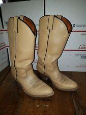 Women's Stetson Light Tan Brown Cowboy Boots Size 7.5 D