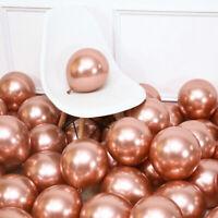 """Chrome Metallic Balloons 10"""" 12'' 1st Birthday Party Arch Kit Baby Xmas Santa UK"""