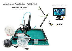 """smt pick and place machine  - PickSoEasy PSE-20 with 2 AV MICR. and 1  9"""" TFT"""