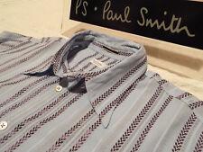 """Paul Smith Mainline Maglietta da uomo 🌍 Taglia L (circonferenza petto 42"""") 🌎 RRP £ 195+ 📮 con Freccia di arrivo a righe"""