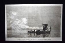 Barca da pesca, quadro del signor E. Dalbono Incisione del 1876