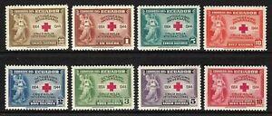 EDUADOR 1945 SCOTT 440-1 C131-4 RED CROSS MINT OG