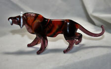 Art Blown Glass Murano Figurine Glass Tiger Figurine