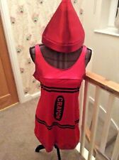 New Ladies Red Crayon DAY THE CRAYONS CAME HOME Fancy Dress Size 12 Med