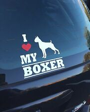 I Love My Boxer Vinyl Decal Sticker Pet Dog Paws Bumper Window