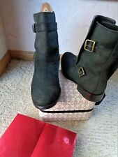 Cole Haan  suede boots  double buckle  9 1/2 M L@@K