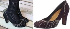CHIE MIHARA SHOES QUILIA STUDDED PUMPS PURPLE SUEDE HEELS ROUND TOE 39.5 NEW