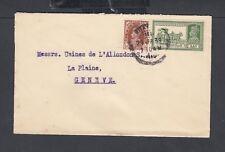 INDIA 1938-39 THREE GEORGE VI COVERS TO LA PLAINE & GENEVA SWITZERLAND