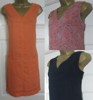 NEW Next Shift Tunic Dress Orange Navy Black Linen Blend Sleeveless Summer 8-16