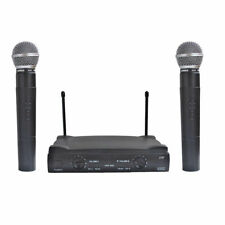 2 Channel UHF Handheld Wireless Cordless Microphone Mic System Stage