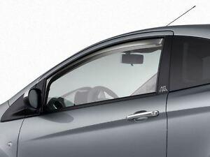 Genuine Ford Ka Wind Deflectors in Dark Grey - Front doors only (1595368)
