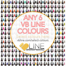 VB™ Line Any 6 Colours Nail Gel Polish - Top and Base coat available Starter set