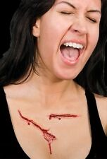 Latex Woochie Horror Slash Wunde Satz 3D Verkleidung Make-Up Einheit Neu #WO146