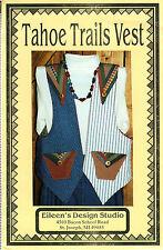 """UNCUT Eileen's Design Studio Sewing Pattern V16 """"Tahoe Trails Vest"""" Petite - XL"""