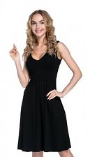 Happy Mama Women's Maternity Nursing Layered Skater Dress Sleeveless. 685p UK M