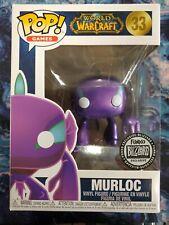 Funko Pop! World Of Warcraft Murloc Blizzard #33 Exclusive Metallic Purple