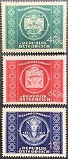 Austria, 75th Anniv. of Upu, Full Set, Mnh, Scott #565-567, Very Fine