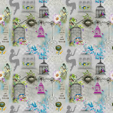 Song Birds  by Spectrix, SPX 25304   100% Cotton Fabric  FQ 50cm by 55cm