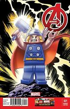 AVENGERS 21 VOL 5 5th SERIES RARE LEGO COLOR 1:25 VARIANT NM OCT 16 THOR