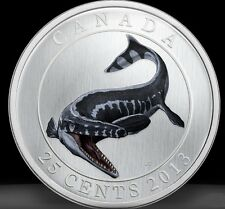 DINO#3 2013 25c Glow in the Dark Dinosaur Coin Tylosaurus Pembinensis *in stock*