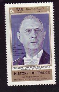 TIMBRE YEMEN ARABE REPUBLIC G. DE GAULLE NEUF  SANS CHARNIERE  +++