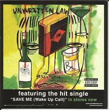UNWRITTEN LAW Dio KISS Cinderella MOTLEY CRUE Overkill PROMO CD w/ VIDEO 2005