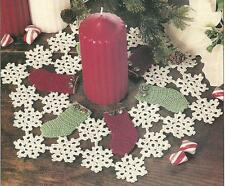 *Christmas Stockings & Snowflakes Ring  Doily crochet PATTERN INSTRUCTIONS