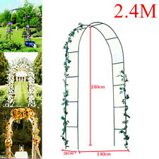 Metal Garden Patio Arch Rose Arbour Archway Climbing Plant Support Trellis Black