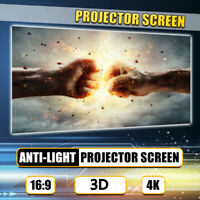 50'' Anti-light 16:9 Projector Screen Cinema Outdoor Movie Projection  t