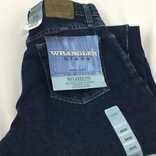 Wrangler Blues Relaxed Fit Mom Jeans Sz 6 x 32 Tapered Leg Average Rise NWT