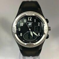 Fossil Mens Blue Mint Black AM3420 Day Date Indicator Analog Quartz Wristwatch